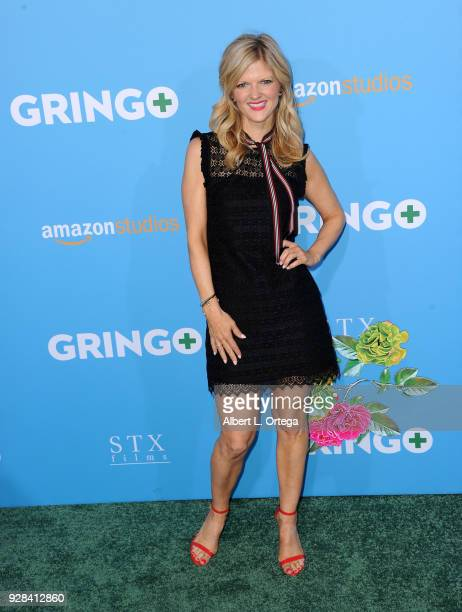 Actress Arden Myrin arrives for the Premiere Of Amazon Studios And STX Films' Gringo held at Regal LA Live Stadium 14 on March 6 2018 in Los Angeles...