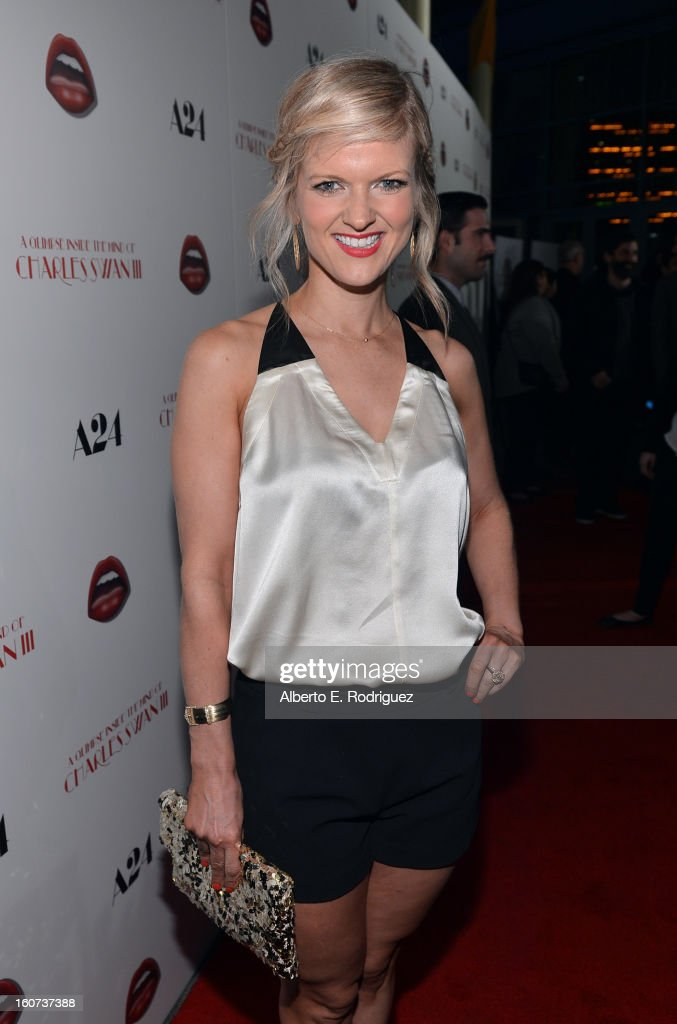 Actress Arden Myrin attends the Los Angeles premiere of A24's 'A Glimpse Inside The Mind Of Charles Swan III' at ArcLight Hollywood on February 4, 2013 in Hollywood, California.