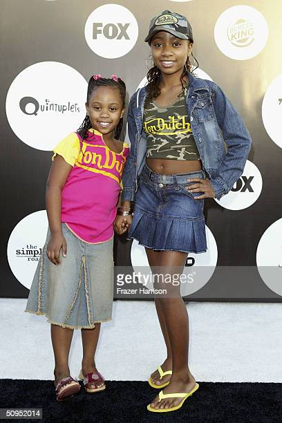 Actress Aree Davis and Dee Dee Davis arrive at the Fox Network New Season Launch Event Party designed by Ugoff and sponsored by Burger King on June...