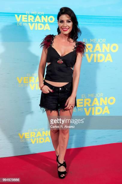 Actress Ares Teixido attends 'El Mejor Verano De Mi Vida' premiere at the Capitol cinema on July 9 2018 in Madrid Spain