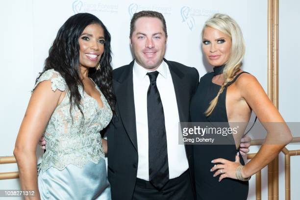 Actress Areva Martin Writer Jay McGraw and wife Erica Dahm attend the Face Forward's 10th Annual La Dolce Vita Themed Gala at the Beverly Wilshire...