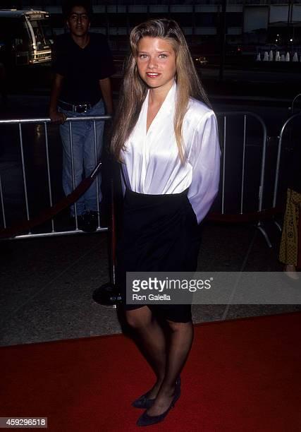 Actress Ari Meyers attends the 'Dutch' Century City Premiere on July 17 1991 at the Cineplex Odeon Century Plaza Cinemas in Century City California