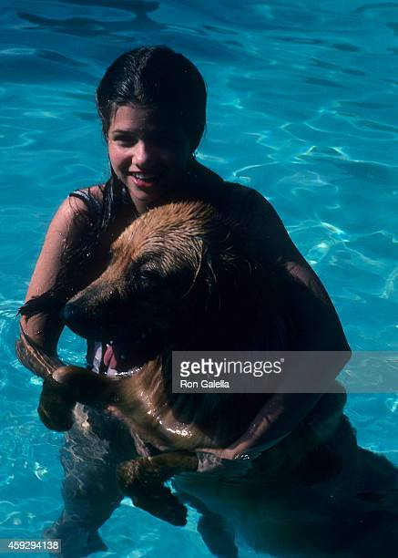 Actress Ari Meyers gives an exclusive photo session on April 21 1983 at Deborah Raffin's home in Beverly Hills California