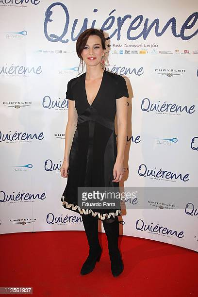 Actress Ariadna Gil at premiere of the film 'quiereme' on October 17 2007 in Madrid Spain