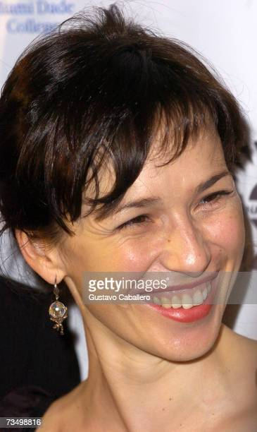 Actress Ariadna Gil poses before the screening of Alatriste at the Gusman Theater during the Miami International Film Festival March 5 2007 in Miami...