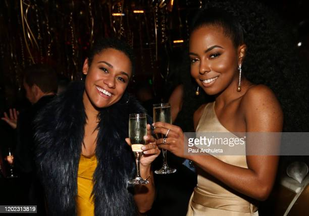 Actress Ariana Debose and Adrienne Warren attend the 1st Annual Musical Theater Album GRAMMY Party at Tramp Stamp Granny's on January 26 2020 in Los...