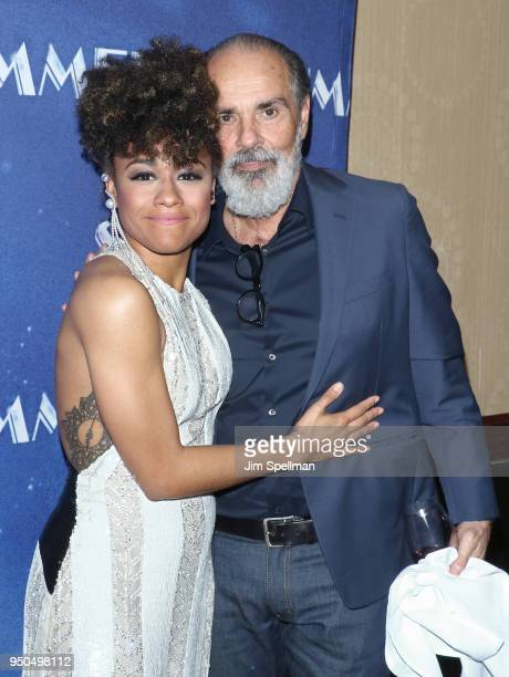 Actress Ariana DeBose and singer/songwriter Bruce Sudano attend the opening night after party for Summer The Donna Summer Musical Broadway at New...