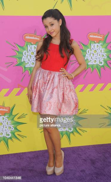 US actress Ariana Grande arrives at Nickelodeon's 26th Annual Kids' Choice Awards at USC Galen Center in Los Angeles USA on 23 March 2013 Photo...