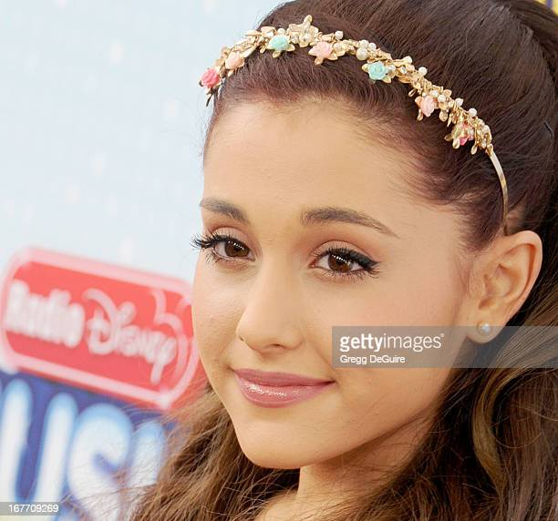 Actress Ariana Grande arrives at the 2013 Radio Disney Music Awards at Nokia Theatre LA Live on April 27 2013 in Los Angeles California