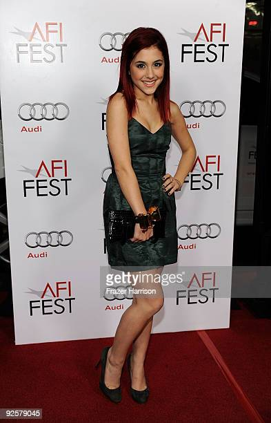Actress Ariana Grande arrives at the AFI FEST 2009 Opening Night Gala Screening of 20th Century Fox's 'Fantastic Mr Fox' at the The Grauman�s Chinese...