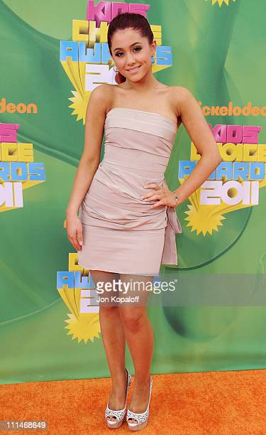 Actress Ariana Grande arrives at the Nickelodeon's 2011 Kids' Choice Awards at USC Galen Center on April 2 2011 in Los Angeles California