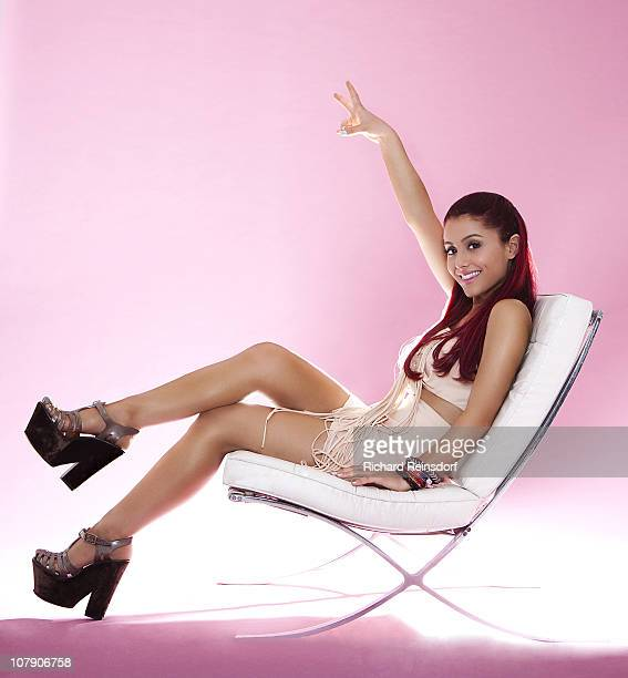 Actress Ariana Grande poses at a portrait session for a Self Assignment on September 24 2010 in Santa Monica California