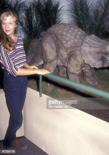 Actress Ariana Richards attends The American Museum of Natural History's 'The Dinosaurs of Jurassic Park' Display on June 10 1993 at The American...