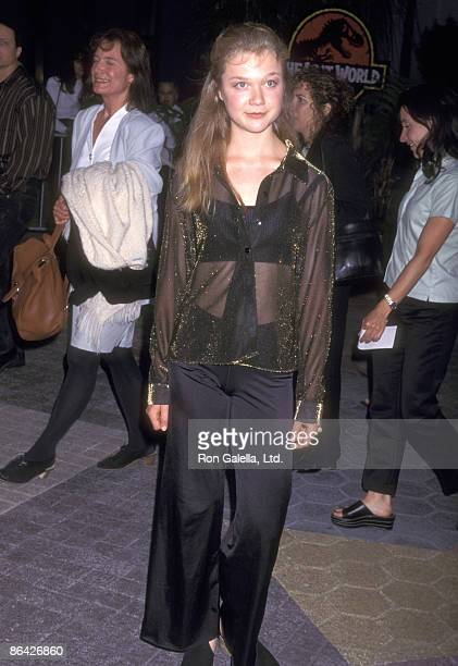 Actress Ariana Richards attends 'The Lost World Jurassic Park' Universal City Premiere on May 19 1997 at Universal Studios in Universal City...