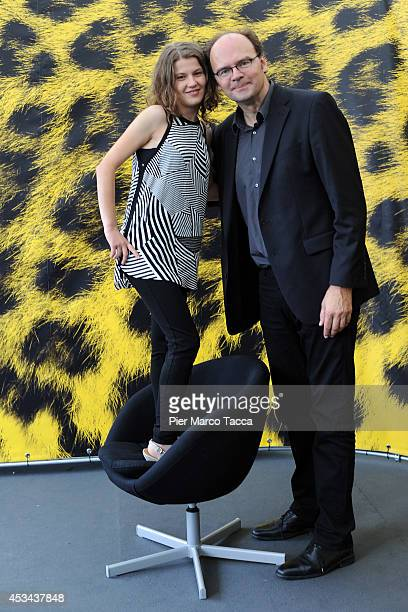 Actress Ariana Rivoire and Director JeanPierre Ameris attend the 'Marie Heurtin' Photocall during the 67th Locarno Film Festival on August 10 2014 in...