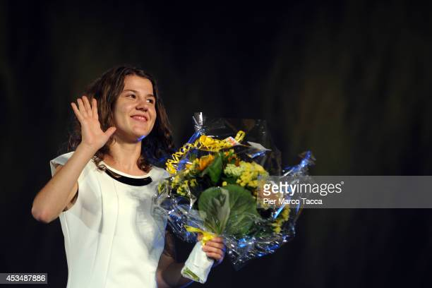 Actress Ariana Rivoire attends 'Marie Heurtin' premiere during the 67th Locarno Film Festival on August 10 2014 in Locarno Switzerland