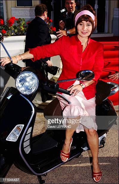 Actress Ariane Ascaride at Cabourg Romantic Film Festival in France on June 12 2004