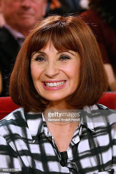 Actress Ariane Ascaride presents the movie 'Les Heritiers' during the 'Vivement Dimanche' French TV Show at Pavillon Gabriel on November 19 2014 in...