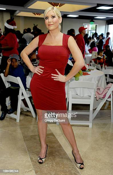 Actress Ariane Bellamar arrives at the Working Dreams And Families For Children annual holiday celebration at the Marriott Courtyard on December 17...