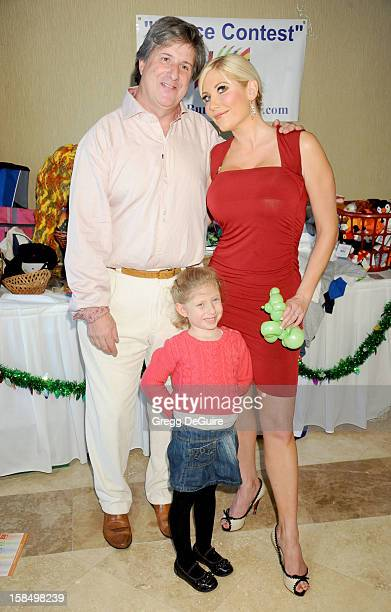 Actress Ariane Bellamar husband Barry and daughter Emma arrive at the Working Dreams And Families For Children annual holiday celebration at the...