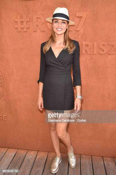 Actress Ariane Brodier attends the 2017 French Tennis Open Day Nine at Roland Garros on June 5 2017 in Paris France