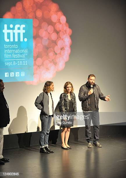 Actress Ariane Labed actress Aggeliki Papoulia and director Giorgos Lanthimos attends Alps Premiere at Isabel Bader Theatre during the 2011 Toronto...