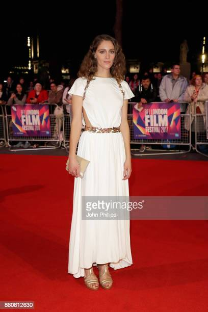 Actress Ariane Labed attends the Headline Gala Screening UK Premiere of 'Killing of a Sacred Deer' during the 61st BFI London Film Festival on...