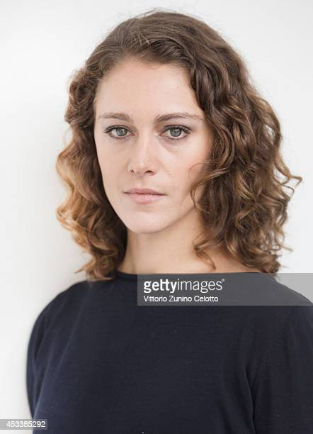 Actress Ariane Labed poses on August 9 2014 in Locarno Switzerland