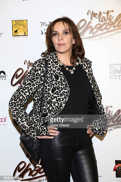 Actress Ariane Pellicer attends the Me Late Chocolate Mexico City premiere at Cinemex WTC on February 6 2013 in Mexico City Mexico