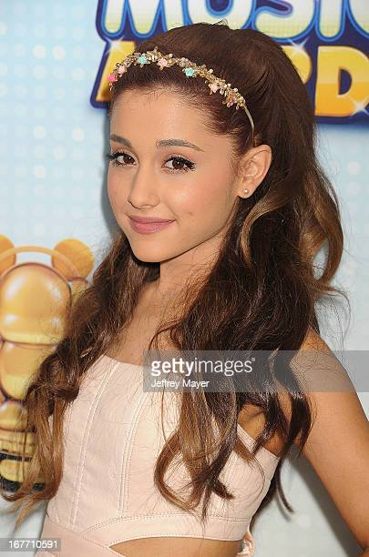 Actress Arianna Grande arrives at the 2013 Radio Disney Music Awards at Nokia Theatre LA Live on April 27 2013 in Los Angeles California