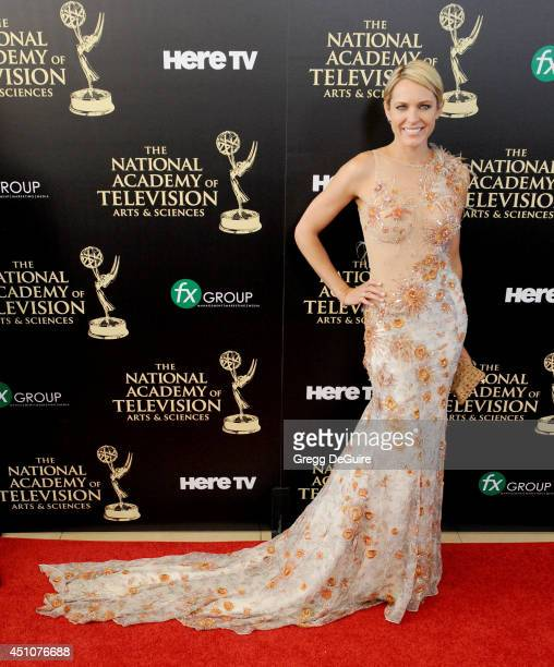 Actress Arianne Zucker arrives at the 41st Annual Daytime Emmy Awards at The Beverly Hilton Hotel on June 22 2014 in Beverly Hills California