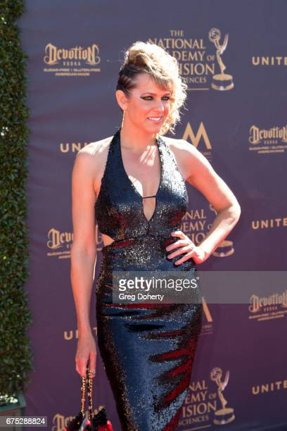 Actress Arianne Zucker arrives at the 44th Annual Daytime Emmy Awards at Pasadena Civic Auditorium on April 30 2017 in Pasadena California