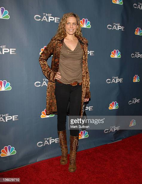 Actress Arianne Zucker arrives for NBC's 'The Cape' premiere party at The Music Box @ Fonda on January 4 2011 in Hollywood California