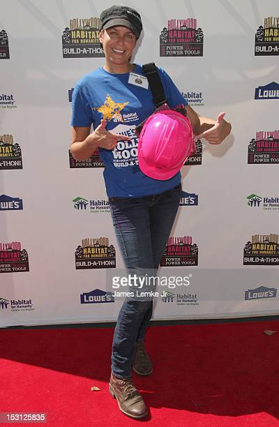 Actress Arianne Zucker attends the celebrity building event Lowe's Hollywood for Habitat for Humanity Buildathon at Sony Pictures Studios on...