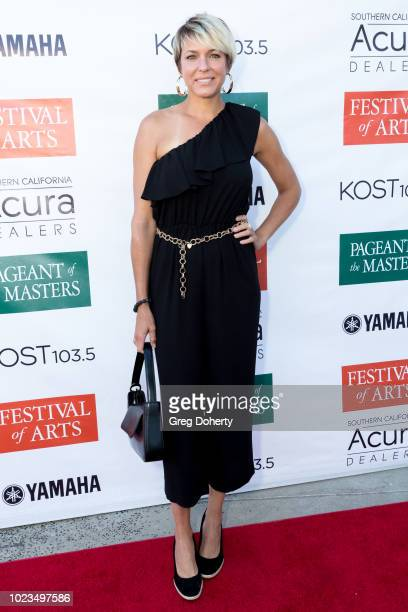 Actress Arianne Zucker attends the Laguna Beach Festival of Arts/ Pageant of The Masters Celebrity benefit concert and pageant on August 25 2018 in...