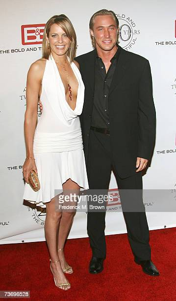 Actress Arianne Zuker and her guest attend 'The Bold And The Beautiful' gala celebrating the show's 20 year anniversary on the air at Two Rodeo Drive...