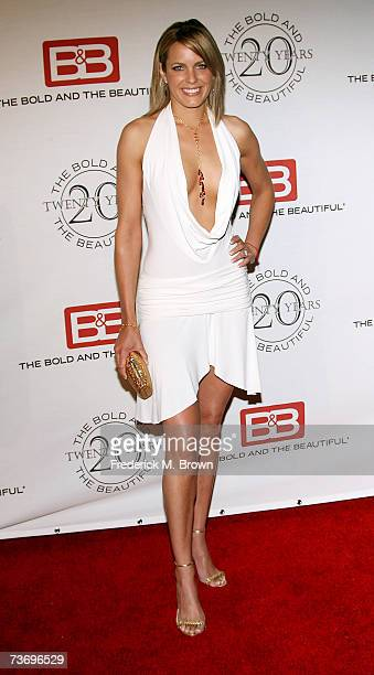 Actress Arianne Zuker attends 'The Bold And The Beautiful' gala celebrating the show's 20 year anniversary on the air at Two Rodeo Drive on March 24...