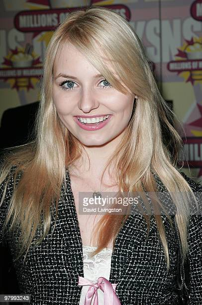 Actress Ariel Teal Toombs attends the launch of actress Niecy Nash's milkshake at Millions of Milkshakes on March 23 2010 in West Hollywood California
