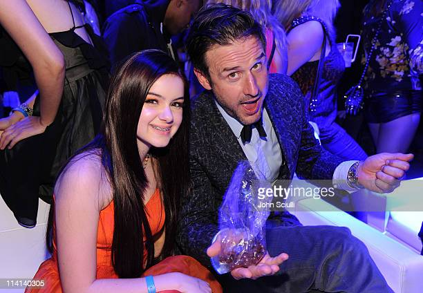 Actress Ariel Winter and Actor David Arquette attend the Samsung Infuse 4G For ATT Launch Event Featuring Nicki Minaj held at Milk Studios on May 12...