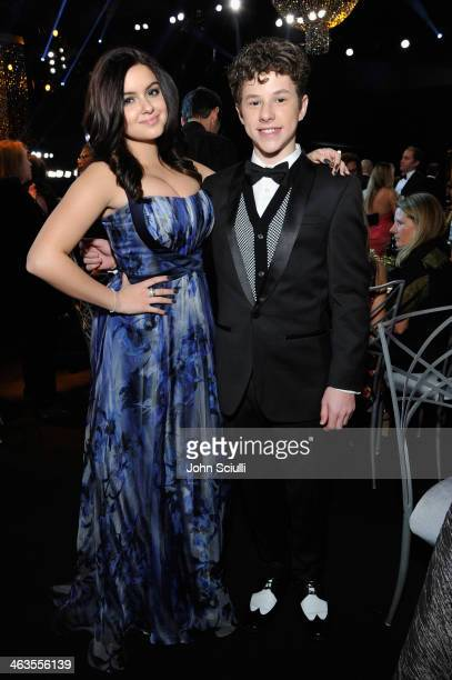 Actress Ariel Winter and actor Nolan Gould attend the 20th Annual Screen Actors Guild Awards at The Shrine Auditorium on January 18 2014 in Los...