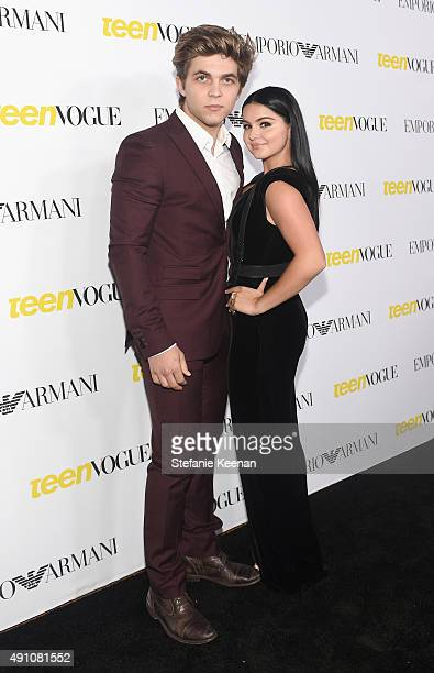 Actress Ariel Winter and Laurent Claude Gaudette attend Teen Vogue Celebrates the 13th Annual Young Hollywood Issue with Emporio Armani on October 2...