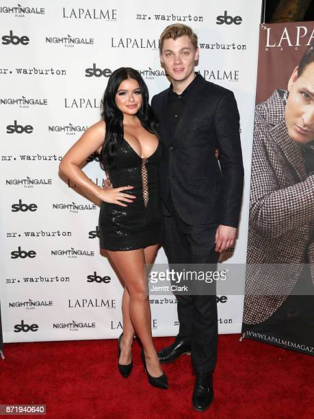 Actress Ariel Winter and Levi Meaden attend LaPalme Magazine fall cover party at Nightingale Plaza on November 8 2017 in Los Angeles California