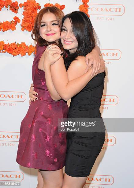 Actress Ariel Winter and sister Shanelle Workman arrive at the 3rd Annual Coach Evening To Benefit Children's Defense Fund at Bad Robot on April 10...
