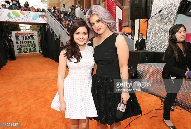 Actress Ariel Winter and TV personality Kelly Osbourne arrive at Nickelodeon's 25th Annual Kids' Choice Awards held at Galen Center on March 31, 2012...