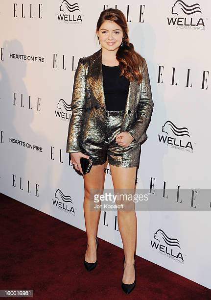Actress Ariel Winter arrives at ELLE's 2nd Annual Women In TV Event at Soho House on January 24 2013 in West Hollywood California