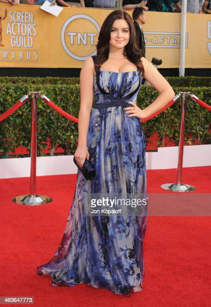 Actress Ariel Winter arrives at the 20th Annual Screen Actors Guild Awards at The Shrine Auditorium on January 18 2014 in Los Angeles California