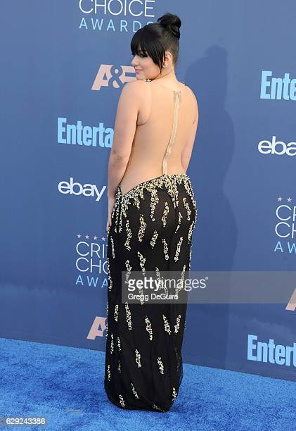 Actress Ariel Winter arrives at The 22nd Annual Critics' Choice Awards at Barker Hangar on December 11 2016 in Santa Monica California