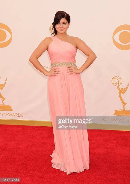 Actress Ariel Winter arrives at the 65th Annual Primetime Emmy Awards at Nokia Theatre LA Live on September 22 2013 in Los Angeles California