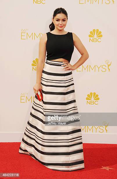 Actress Ariel Winter arrives at the 66th Annual Primetime Emmy Awards at Nokia Theatre LA Live on August 25 2014 in Los Angeles California