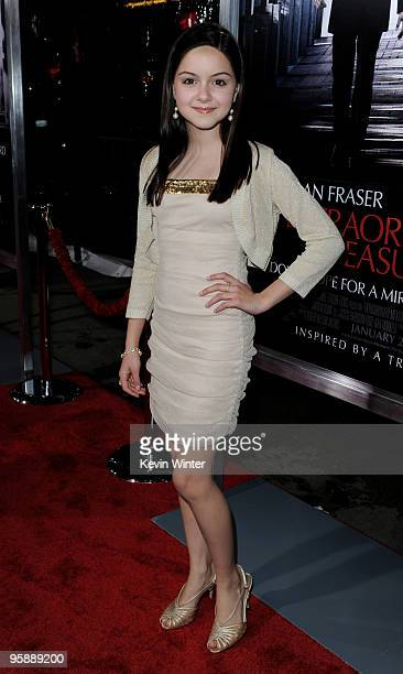 Actress Ariel Winter arrives at the premiere of CBS Films' 'Extraordinary Measures' at the Chinese Theater on January 19 2010 in Los Angeles...